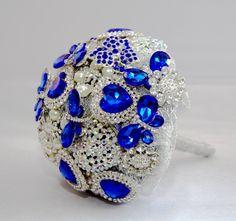 Blue Brooch Bouquet
