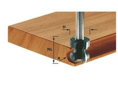 Festool 491140 Hand rail cutter HW shank 8 mm - HW S8 D22/16/R2,5+6