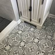 The Basics of Bathroom Remodel Tile Design Trends You must deal with the tile ideas also for making the restroom decoration complete. Guest Bathrooms, Bathroom Renos, Dream Bathrooms, Bathroom Flooring, Kitchen Flooring, Modern Bathroom, Lowes Bathroom, White Bathrooms, Boho Bathroom