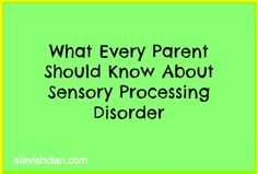 Guest Post: Sensory Processing Disorder - Pinned by @PediaStaff – Please Visit http://ht.ly/63sNt for all our pediatric therapy pins