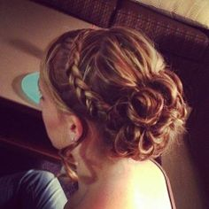 Braid & Bun #wedding #hair // via longhairstyleshowto