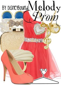Melody from The Little Mermaid II inspired prom outfit by DisneyBound