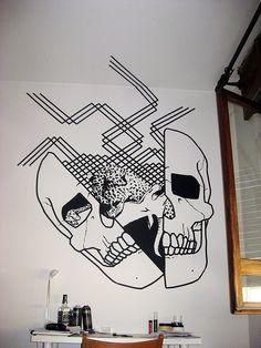 Buff Diss tape art