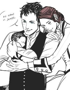 Will Herondale, Tessa and baby James. The Infernal Devices