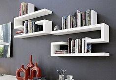 Creative Design Ideas for Wall Shelves - Home Decor Ideas - Shelves in Bedroom Bookshelf Design, Wall Shelves Design, Study Table Designs, Wall Shelf Decor, Home And Deco, Contemporary Furniture, Floating Shelves, Furniture Design, House Design