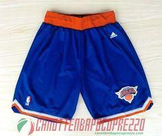 pantaloncini nba poco prezzo New York Knicks blu