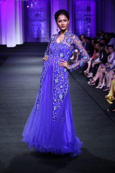 Jyotsna Tiwari Couture Collection at India Bridal Fashion Week 2012 LOVE the color!