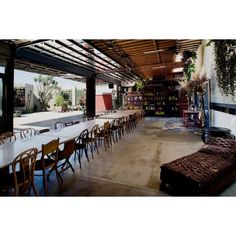 GREAT venue in LA for a reception!!!  SmogShoppe | Marvimon .. love the eclectic mismatched vintage chairs in brown