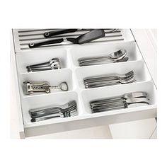 IKEA - VARIERA, Tacka/pojemnik na sztućce, Ułatwia uporządkować i odszukać w szufladzie to, czego potrzebujesz.Zaokrąglone narożniki ułatwiają czyszczenie.