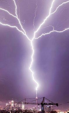 Lightning Strike CN Tower Canada