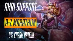 Ahri Support in the A-Z Support Marathon https://youtu.be/FDcsgDx41Ug #games #LeagueOfLegends #esports #lol #riot #Worlds #gaming