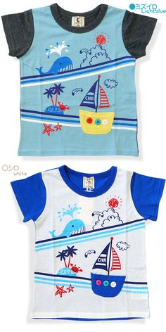 comkids: Chocola (Chocolat) yacht short sleeve T shirt - Purchase now to accumulate reedemable points! Kids Fashion Boy, Toddler Fashion, Kids Nightwear, Baby Suit, Summer Boy, Kids Pajamas, Baby Design, Boys T Shirts, Kids Wear