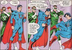 Ultraman notices the gutter between comic book panels.