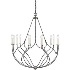 Chapman & Myers by Generation Lighting Richmond 12 - Light Candle Style Empire Chandelier Size: H x W x D Lighting Sale, Interior Lighting, Modern Lighting, Lighting Design, Luxury Lighting, Empire Chandelier, Chandelier Lighting, Cream Candles, Steel Rod