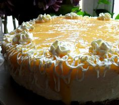 frozen wings: Lemon Bavarian Cream Cake