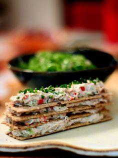 Receita fácil, linda e rápida que pode ser uma ótima entrada #frango #lowcarb #salada