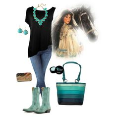 """""""La vie en turquoise"""" by bulletblues on Polyvore - Entire outfit is #madeinUSA featuring #BulletBlues #skinnyjeans #Fox and #Priscile top www.bulletbluesca.com"""