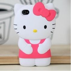 Hello Kitty Cute 3D hard Back Case Cover Skin for iPhone 4 4G 4S pink