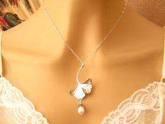 Romantic Necklace Art Nouveau Antiqued Silver by martywhitedesigns, $39.50