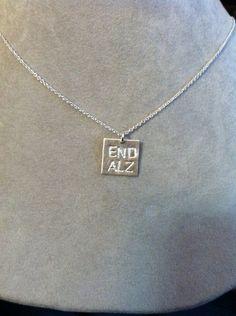END ALZ small rectangular pendant