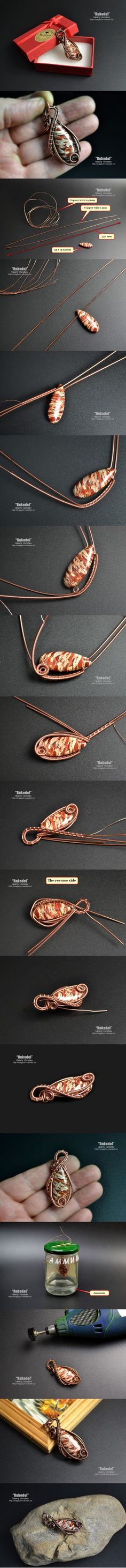 DIY wire twist necklace