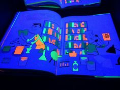 Glowing Books for the Black Light Booth : Sturdy for Common Things