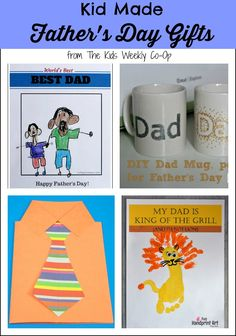 Kid Made Father's Day Gifts from The Kids Weekly Co-Op - Dad will love these gifts even more because they are made by your child.
