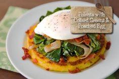 Polenta with Collard Greens and Poached Egg – the Egg Farm #theeggfarm