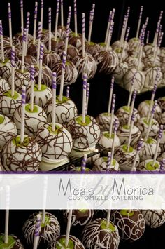 Meals by Monica - Custom Candy Apple Wedding Display Arrangement