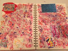 My Jackson pollock artist research page❣