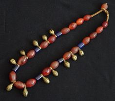 Carnelian and brass Ao necklace Nagaland (singkiang archives sold )