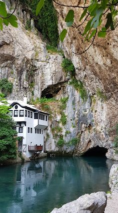 The village of Blagaj in Bosnia and Herzegovina can be found a mere South of Mostar. Visit the Sufi Dervish house and the source of the Buna River. List Of Countries, Countries Of The World, Sufi, Bosnia And Herzegovina, Beach Resorts, Travel Inspiration, Universe, Europe, Inspire