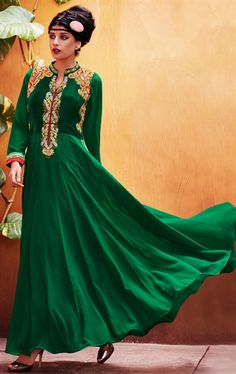 Picture of Splendorous Bottel Green Stunning Salwar Kameez