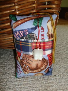 Tooth Fairy Pillow with tooth holder  Baseball by suespecialtyshop, $6.95