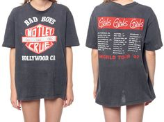 MOTLEY CRUE Shirt 80s TShirt Girls Girls Girls Tour by ShopExile