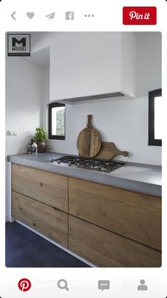 Muebles madera tapa gruesa cemento
