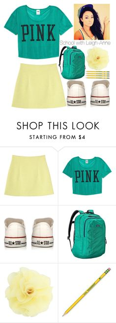 """School with Leigh-Anne"" by kite200416 ❤ liked on Polyvore featuring Monki, Victoria's Secret PINK, Converse, Patagonia, Dorothy Perkins and Dixon Ticonderoga"