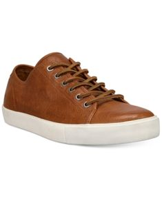 Frye Men's Brett Low Top Sneakers - Brown 9.5
