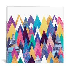 "Mercury Row Enchanted Mountains Graphic Art on Wrapped Canvas Size: 12"" H x 12"" W x 0.75"" D"