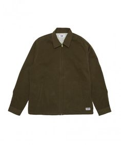 Olive Peach Skin Harrington Jacket