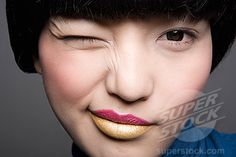 Pink and gold lipstick