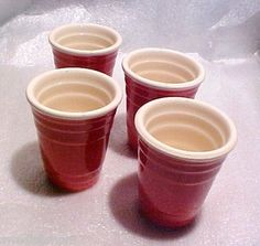 "Red Solo Cup"" 2 ounce Ceramic Shot Glasses"