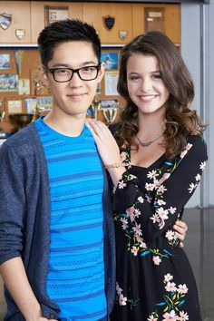 Andre Kim as (Winston) and Sara Waisglass as (Frankie) #DegrassiSeason14