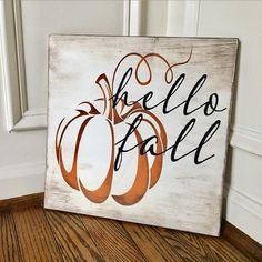 Fall Wood Signs, Fall Signs, Fall Pallet Signs, Fall Decor Signs, Holiday Signs, Autumn Painting, Autumn Art, Fall Paintings, Fall Crafts