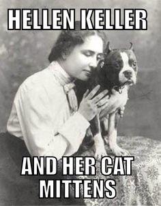 Hellen Kellers cat mittens