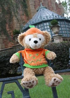Duffy the Disney Bear dressed for Halloween #Duffy #DuffyTheDisneyBear #DisneyBearCousins