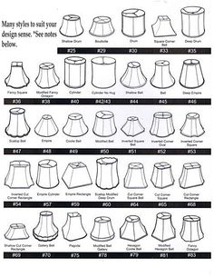 *NOTES:  Not written in stone, most common shapes used in design are -- BELL = Traditional, Transitional    DRUM = Transitional, Contemporary & Modern  EMPIRE = Transitional & Contemporary   RECTANGLE & CYCLINDER  = Contemporary & Modern  SQUARE =Traditional, Transitional, Contemporary & Modern  TAPERED DRUM = Transitional & Contemporary   TIP: Having your lamp with you makes the task of choosing a lampshade much easier.  Click on the 'visual similar result' icon to view.   -mrsben2-