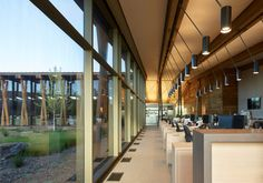 Old wooden barns inform Graham Baba's office building for Washington fruit company