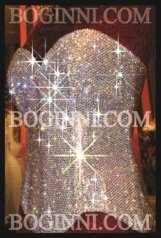 BOGINNI CUSTOM MADE BIG FAT WEDDING FULL CRYSTAL DIAMOND BRIDAL CORSET $640