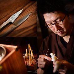 Amezaiku ... Sculpted candy on a stick ... 常に高いクオリティを目指すため鍛錬を続ける吉原さん。